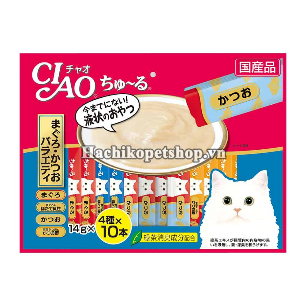 XỐT CIAO CHU RU TUNA VARIETY MIX 40 PCS CAT TREATS